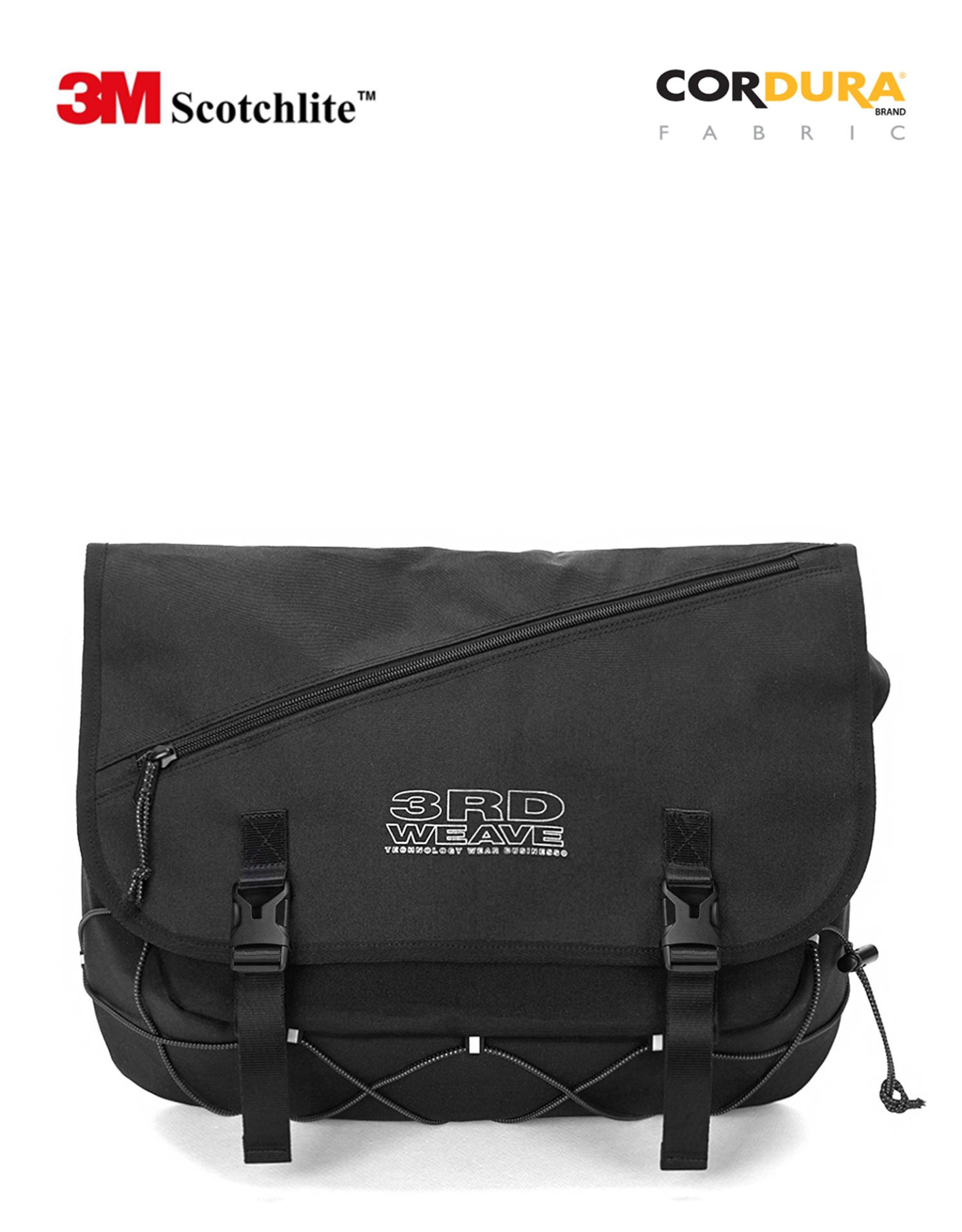 SCOTCH MESSENGER BAG / BLACK-SCOTCH